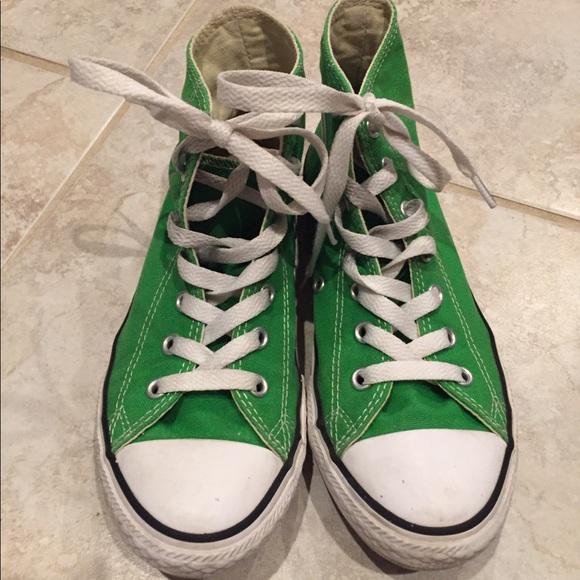 a66bdc2c58af Converse Other - Kids Green High Top Converse All Star Chucks